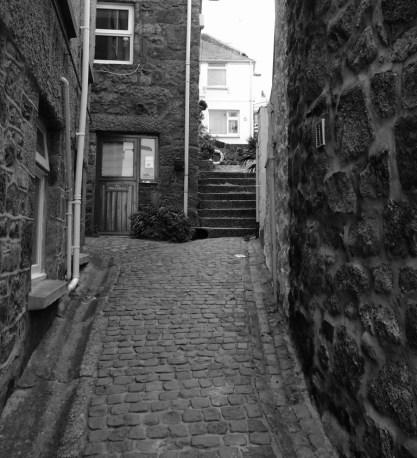 Cobbled lanes St Ives