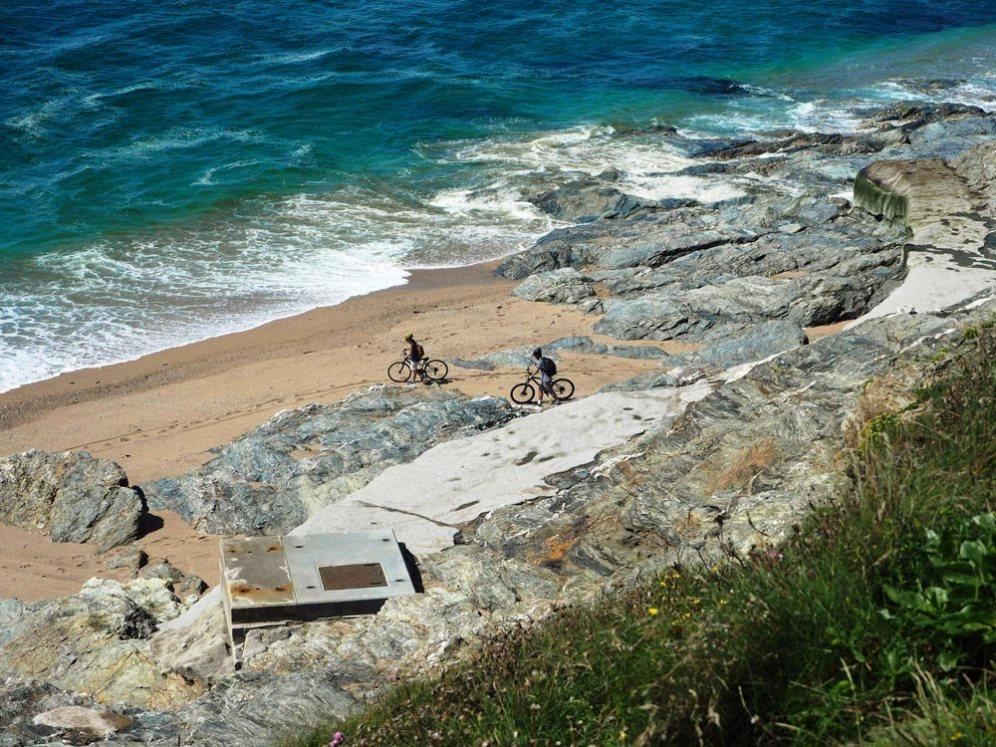 Beach cyclists
