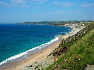 Beach and Porthleven