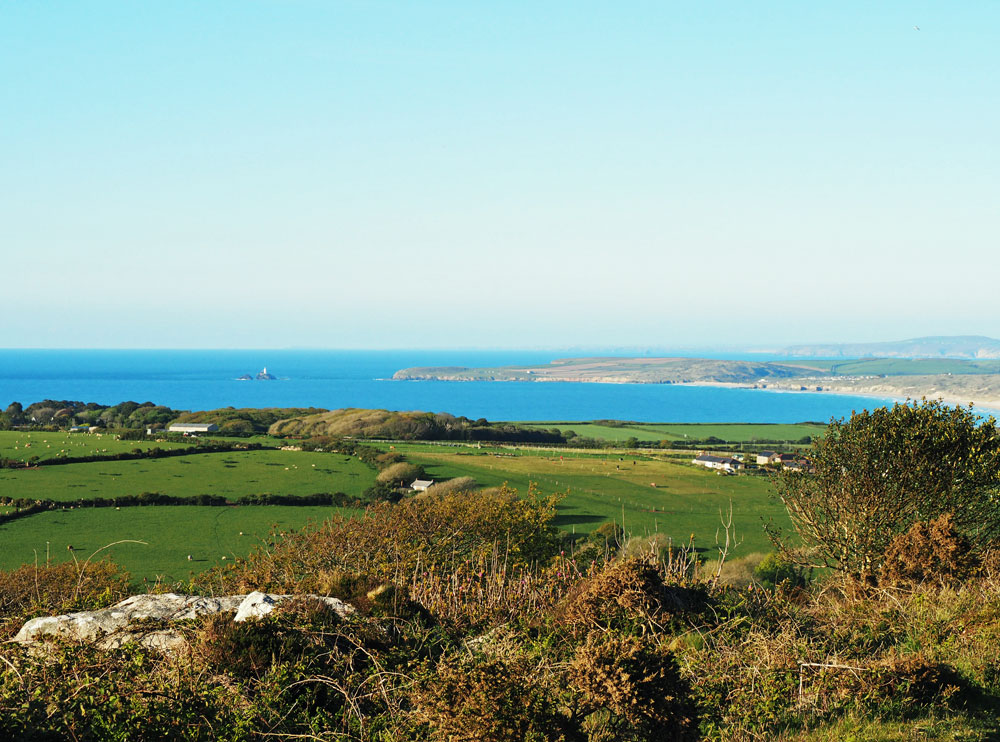 St Ives Bay and Godrevy Lighthouse