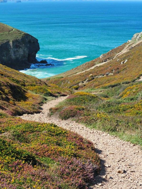 Path leading to the beach car park